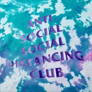 Tie-dye Custom Social Distancing T-shirt